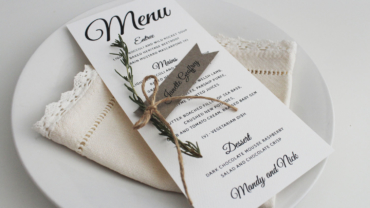 DIY Ribbon Style Wedding Place Card Tutorial by Paper Alphabet Wedding Invitations Sunshine Coast and Brisbane